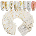 cheap Nail Stickers-30 pcs Full Nail Stickers nail art Manicure Pedicure Fashionable Design Nail Decals Daily Wear / Festival