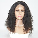 cheap Human Hair Wigs-Human Hair Lace Front Wig Indian Hair Curly Wig 130% Best Quality Mid Length Human Hair Lace Wig