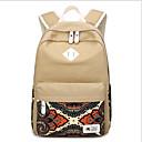 olcso Intermediate School Bags-Női Táskák Vászon Iskolatáska Minta Rubin / Sötétkék / Khakizöld