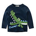 tanie Topy dla chłopców-Dzieci Dla chłopców Aktywny / Podstawowy Nadruk Nadruk Długi rękaw Bawełna T-shirt