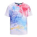 baratos Oxfords Masculinos-Homens Camiseta Activo / Exagerado Arco-Íris