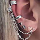 Χαμηλού Κόστους Μοδάτο Δαχτυλίδι-Γυναικεία Σκουλαρίκια με Κλιπ Χειροπέδες Ear Σκουλαρίκια Καρδιά κυρίες Βίντατζ Μποέμ Μπόχο Κοσμήματα Ασημί Για Βραδινό Πάρτυ Μασκάρεμα 5pcs