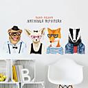 billige Veggklistremerker-Dekorative Mur Klistermærker - Animal Wall Stickers Dyr Stue / Soverom / Baderom