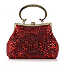 cheap Clutches & Evening Bags-Women's Bags Polyester Evening Bag Beading / Sequin Gray / Almond / Coffee