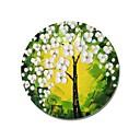 זול שעוני קיר מוטבעים בציורי קנבס-ציור שמן צבוע-Hang מצויר ביד - פרחוני / בוטני עכשווי / מודרני בַּד