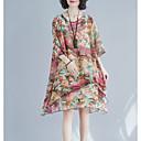 זול צמיד אופנתי-עד הברך פרחוני - שמלה שיפון בגדי ריקוד נשים
