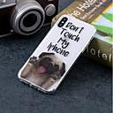 olcso Mobiltelefon tokok & Képernyő védők-Case Kompatibilitás Apple iPhone X / iPhone 8 IMD / Minta Fekete tok Kutya Puha TPU mert iPhone X / iPhone 8 Plus / iPhone 8