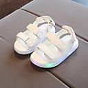 זול נעלי ילדות-בנים / בנות נעליים PU קיץ & אביב נעליים זוהרות סנדלים סקוטש / LED ל שחור / צהוב / ורוד
