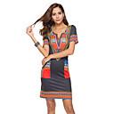 hesapli Külotlar-Kadın's Kılıf Elbise V Yaka Diz üstü