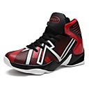זול סניקרס לגברים-בגדי ריקוד גברים PU סתיו נוחות נעלי אתלטיקה כדורסל שחור / שחור אדום / שחור וצהוב