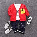 billige Sett med Gutter babyklær-Baby Gutt Grunnleggende Ensfarget Langermet Polyester Tøysett Rød