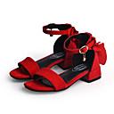 povoljno Cipele za djevojčice-Djevojčice Cipele PU Proljeće ljeto Udobne cipele Sandale Mašnica za Djeca Crn / Crvena