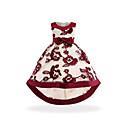 ieftine Seturi Îmbrăcăminte Fete-Copii Fete De Bază / Dulce Petrecere / Ieșire Peteci Fără manșon Asimetric Rochie / Bumbac