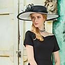 billige Bryllupsdekorasjoner-Naturlig Fiber Hatter med Fjær 1pc Spesiell Leilighet / Fest / aften Hodeplagg
