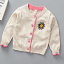 billige Gensere og cardigans til jenter-Barn Jente Grunnleggende Ensfarget Langermet Polyester Genser og cardigan Blå