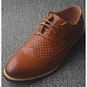 baratos Oxfords Masculinos-Homens Sapatos Confortáveis Pele Primavera / Outono Oxfords Preto / Marron