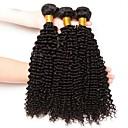 ieftine Meșe Păr Natural-3 pachete Păr Indian Kinky Curly Neprocesat / Păr Natural Umane tesaturi de par / Mărturii petrecere ceai / Atribut Îngrijire Păr 8-28 inch Culoare naturală Umane Țesăturile de par Moale / Gros