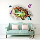 billige Veggklistremerker-Dekorative Mur Klistermærker - 3D Mur Klistremerker Landskap / 3D Stue / Soverom / Baderom