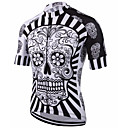 cheap Hair Braids-Malciklo Men's Short Sleeves Cycling Jersey - Red / White / Black / White Skull Bike Jersey, Quick Dry, Anatomic Design, Breathable
