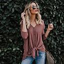 preiswerte Modische Broschen-Damen Solide - Street Schick T-shirt