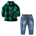 ieftine Pantaloni Băieți-Copii Băieți Houndstooth Manșon Lung Set Îmbrăcăminte