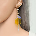 cheap Earrings-Women's Long Drop Earrings - Ladies, Unique Design, Oversized, Hippie Jewelry Yellow For Graduation Evening Party / 1 Pair