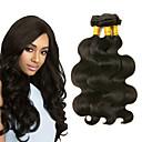 povoljno Ekstenzije od prave kose prirodne boje-3 paketa Peruanska kosa Tijelo Wave Ljudska kosa Headpiece Ljudske kose plete Produžetak 8-28 inch Crna Prirodna boja Isprepliće ljudske kose Najbolja kvaliteta Novi Dolazak Rasprodaja Proširenja