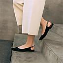 olcso Női alacsony cipők-Női Cipő Bőr Tavaszi nyár Kényelmes Lapos Alacsony Erősített lábujj Fekete