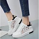 voordelige Damessneakers-Dames Britse stijl geruite schoenen PU Lente zomer Comfortabel Sneakers Platte hak Gesloten teen  Wit / Zwart