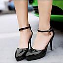 povoljno Ženske ravne cipele-Žene Cipele PU Ljeto Udobne cipele Cipele na petu Stiletto potpetica Crn / Crvena / Pink