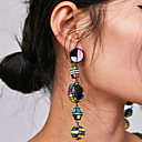cheap Women's Boat Shoes-Women's Long Drop Earrings - Blessed Vintage, Bohemian, Korean Blue / Pink / Black / White For Party / Evening / Formal