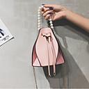 ieftine Genți Umeri-Pentru femei Genți PU Umăr Bag Detalii Perlă / Solid Trifoi / Negru / Roz Îmbujorat
