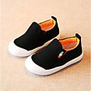 זול מכנסיים לבנים-בנים / בנות נעליים קנבס קיץ & אביב נוחות שטוחות סרט גומי ל פעוטות צהוב / אדום / כחול בהיר