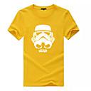 abordables Laminados en lienzo-Hombre Estampado Camiseta Bloques / Letra
