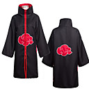 cheap Videogame Costumes-Inspired by Naruto Akatsuki Anime Cosplay Costumes Cosplay Suits Anime Long Sleeve Cloak For Men's