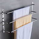 cheap Robe Hooks-Rustproof 304 Stainless Steel Hand Polishing Finished Three Towel Bars Towel Rack Wall Mounted or Nail-Free Multilayer Bathroom Accessories 60cm WY003