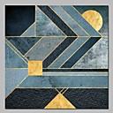 levne Abstraktní malby-Hang-malované olejomalba Ručně malované - Abstraktní Moderní Obsahovat vnitřní rám / Reprodukce plátna