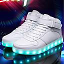 cheap Men's Sneakers-Men's Light Up Shoes PU(Polyurethane) Summer Sneakers White / Black