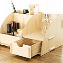 זול ארגון השולחן-עץ מלבן מגניב בית אִרגוּן, 1pc אחסון מייקאפ