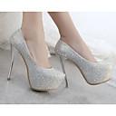 ieftine Sandale de Damă-Pentru femei Pantofi PU Vară Confortabili / Balerini Basic Tocuri Toc Stilat Auriu / Argintiu / Rosu / Nuntă