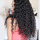 cheap Human Hair Wigs-Virgin Human Hair Full Lace / Lace Front Wig / Glueless Full Lace Wig Brazilian Hair Curly 130% / 150% / 180% Density With Baby Hair / Middle Part Sew in / African American Wig Women's Short / Medium
