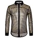 cheap Men's Slip-ons & Loafers-Men's Basic Shirt - Polka Dot Sequins / Mesh