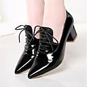 halpa Naisten oxford-kengät-Naisten Oxford-kengät Paksu korko Terävä kärkinen PU Comfort Kesä Musta / Punainen / Pinkki / Päivittäin / EU41