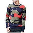 זול שרשראות לגברים-אחיד - סוודר שרוול ארוך צווארון עגול בגדי ריקוד גברים