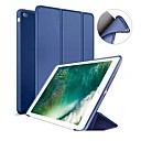 billige LED-lamper-Etui Til Apple iPad (2018) / iPad (2017) Med stativ / Magnetisk Fuldt etui Ensfarvet Hårdt Silikone for iPad Air / iPad 4/3/2 / iPad Mini 3/2/1