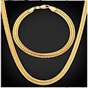 abordables Bloques de Construcción-Hombre Elegante Conjunto de joyas - Chapado en Oro Neumático Moda Incluir Collar vintage Dorado Para Diario Fiesta de Noche
