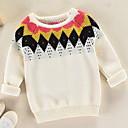 tanie Spodnie dla chłopców-Dzieci Dla chłopców Podstawowy Solidne kolory Długi rękaw Poliester Sweter i kardigan Biały 100