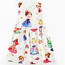 tanie Sukienki dla dziewczynek-Brzdąc Dla dziewczynek Słodkie Kreskówki Bez rękawów Sukienka Biały 130