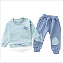 ieftine Set Îmbrăcăminte Băieți Bebeluși-Bebelus Băieți Activ / De Bază Zilnic Imprimeu Manșon Lung Regular Poliester Set Îmbrăcăminte Trifoi 100 / Copil