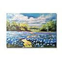 tanie Pejzaże-Hang-Malowane obraz olejny Ręcznie malowane - Krajobraz Nowoczesne / Nowoczesny Płótno / Rozciągnięte płótno